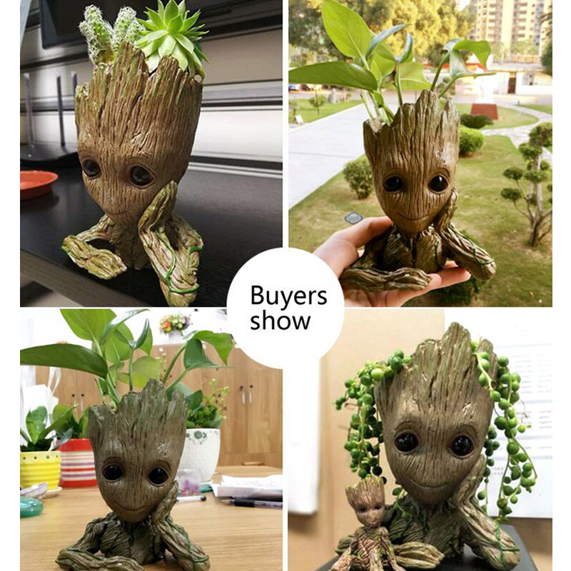 baby grootted guardians galaxy anime action figures boys toys for girls figurines model Penholder and flower pot Home Decor