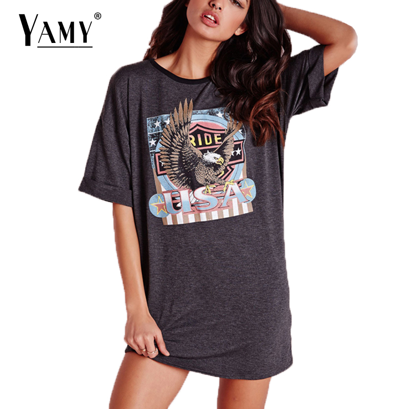 Fashion print t shirt autumn women cotton loose street for Print one t shirt