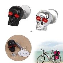 4 Pcs Nuttig Motorcycle Chrome Skull Nummerplaat Frame Bouten Schroeven Caps Fastener Moeren Bouten Nagels Schroeven Iny