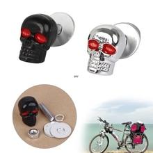 4 個の有用なオートバイクローム skull ナンバープレートボルトネジキャップファスナーナットボルト爪ネジ iny
