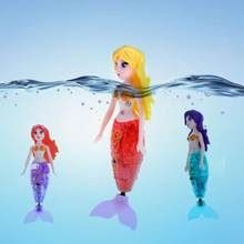 Action Figure Robot Small Mermaid Fish Tail Swimming Dolls Creative Water Mermaid Toys Electronic Mermaid Kids Fish Tail Toys(China)