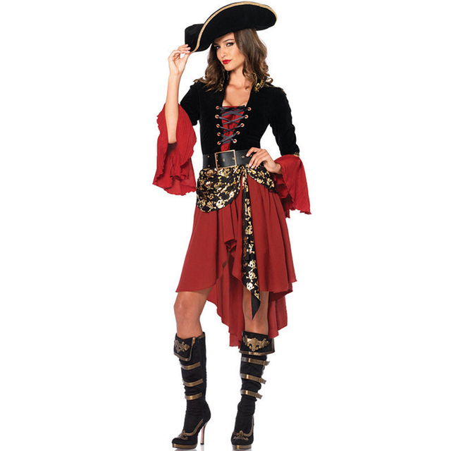 Halloween Women Skull Pirate Dress Costumes for Cosplay Fancy Dress Pirate Costumes  sc 1 st  AliExpress.com & Halloween Women Skull Pirate Dress Costumes for Cosplay Fancy Dress ...