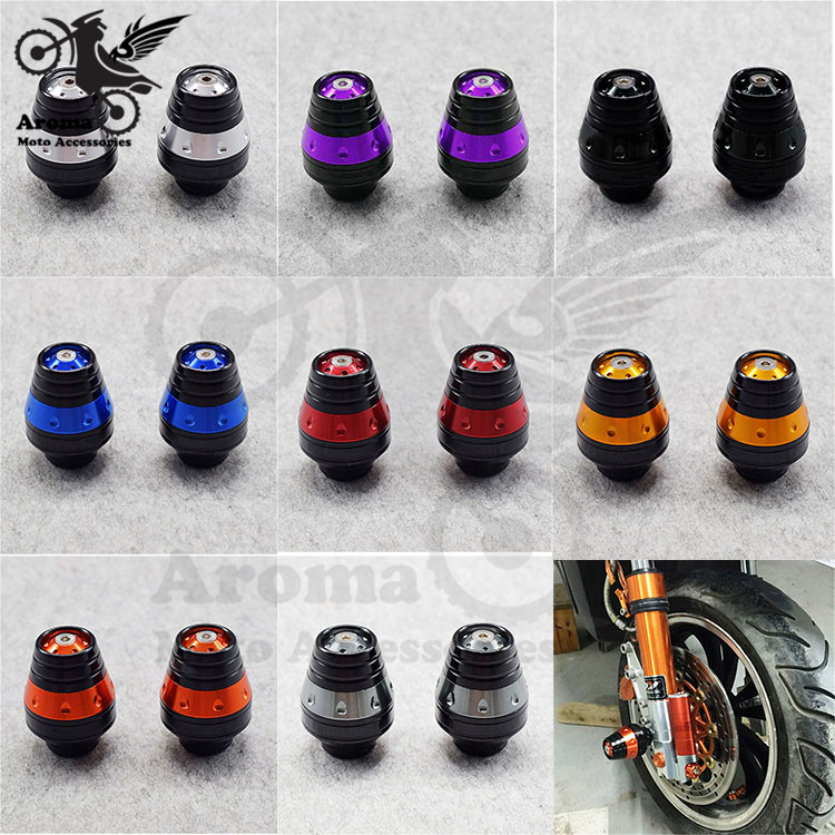 8 colors CNC motorcycle crash pad unviersal motorbike Frame Sliders Protector For Yamaha motocross Falling Protection moto parts