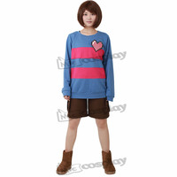 Miccostumes Anime Women S Frisk Cosplay Costume Shirt