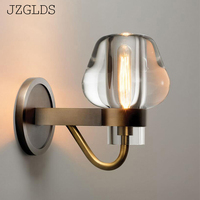 Modern Nordic Wall Lamp crystal gold iron Mounted Light LED Indoor Lighting for Restaurant Living Room Bedroom Corridor