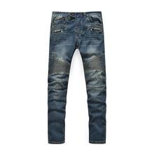 Hochwertigen Biker jeans mode für männer denim gerade jeans schlank washed-jeans männer hot beliebten männer jeans größe: 28-40