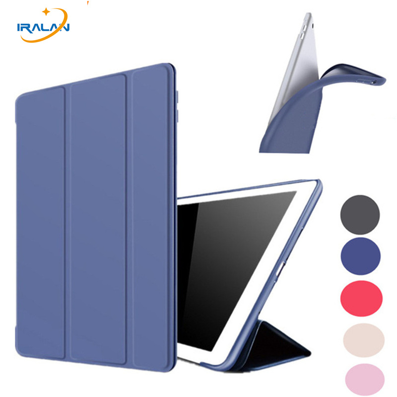 все цены на  PU Leather Original Case for iPad Air 2 9.7 inch Soft Silicone Stand Auto Sleep Smart Cover for iPad 6 A1566+screen film+stylus  онлайн