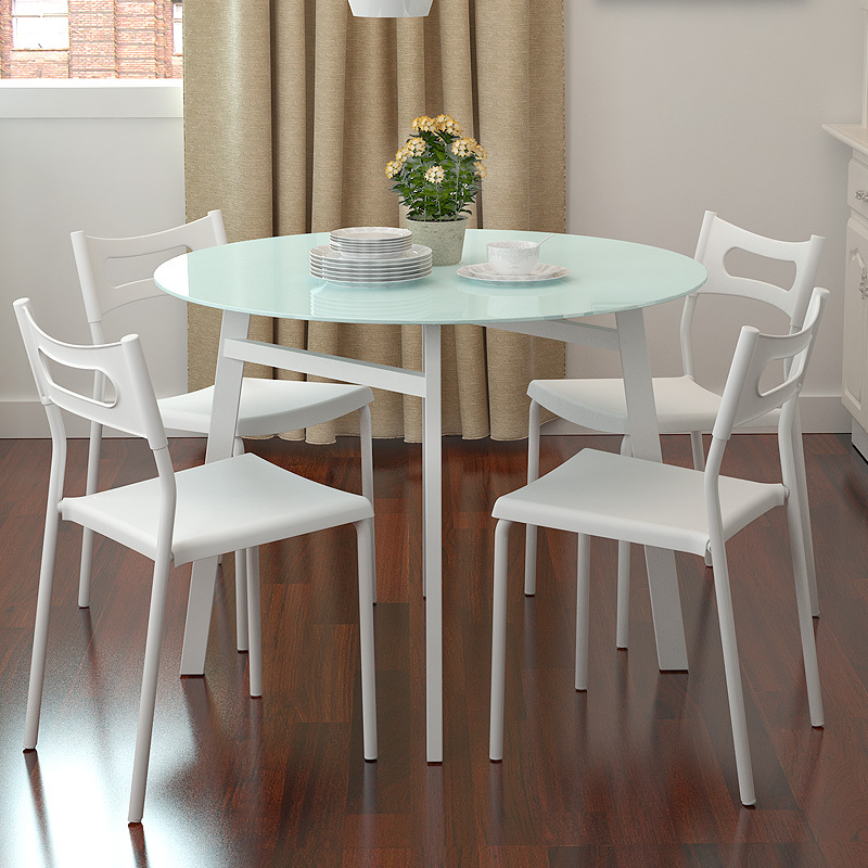 Simple Small Apartment Chao Soil Fashion Round Glass Dining Table Dinette Combination Ikea Special Offer Free Shipping Combine Style Combine Dvdtable Lace Aliexpress