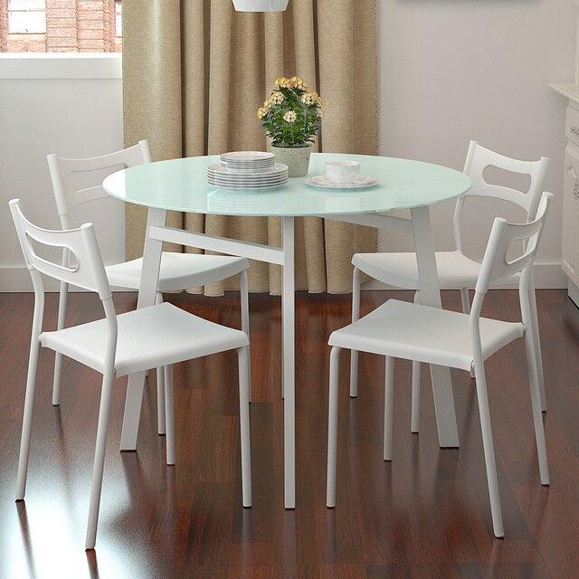 ענק Simple small apartment Chao soil fashion round glass dining table IY-55