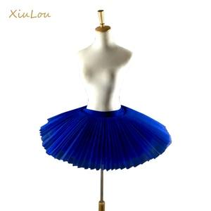 Image 2 - 2020 Professional Ballet Tutus Adult Stiff Pancake Half Ballet Tutu black Practice Tutu Skirts Kids White Platter Tutu Base gir