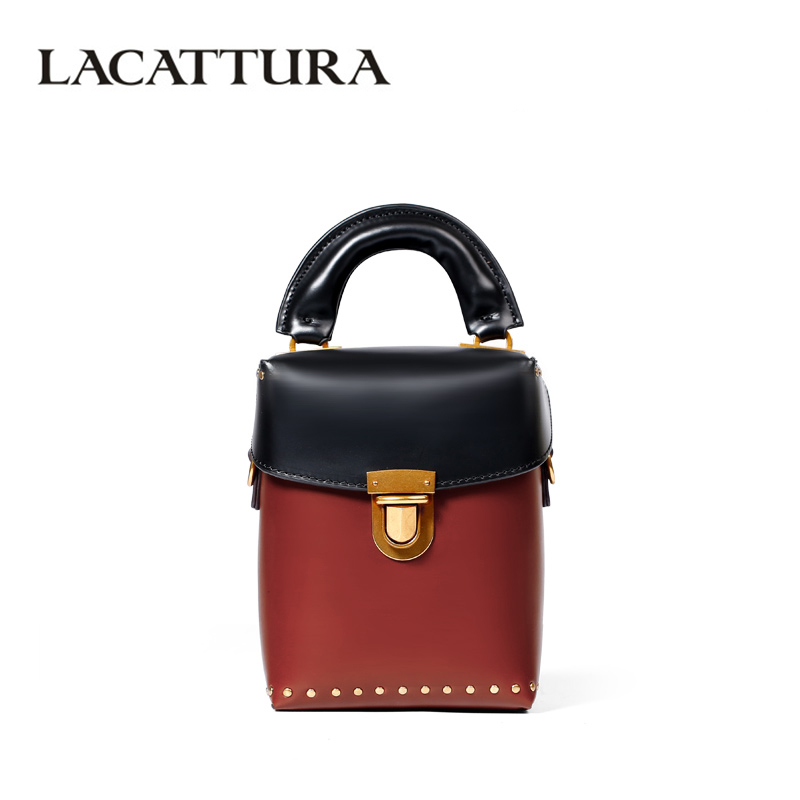 LACATTURA Luxury Bucket Handbag Small Women Leather Shoulder Bag Crossbody for Lady Fashion Totes Messenger Bags Lovely Clutch miss ying 2017 women messenger bags brand fashion shoulder bags for women handbag leather bag cover crossbody bag small purses