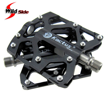 Pedales ultraligeros para bicicleta MTB Road con 3 rodamientos sellados, pedales impermeables para bicicleta, pedales de aleación de magnesio, eje de titanio, Pedal plano para ciclismo