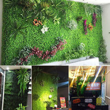 40 * 60 cm Home Decor Vivid Grass Mat Green Artificial Lawns Plant Wall Wedding Decoration Greenery Plastic Fake Flowers(China)