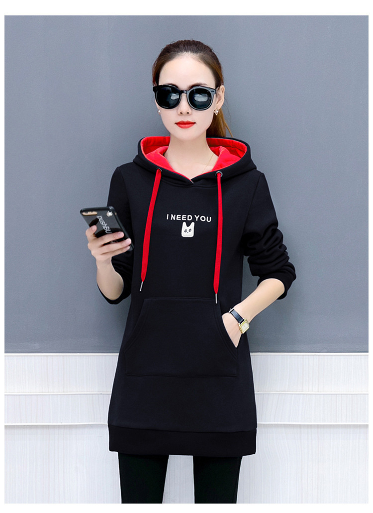 2018 Winter Women Long Thick Hoodies Sweet Knitted Oversized XXXL Casual Sweatshirt Harajuku Students Pullover Autumn Moletom