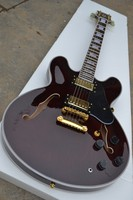 free shipping New Top Quality musical instrument TD Wine Red Electric Guitar Semi Hollow hai3 355
