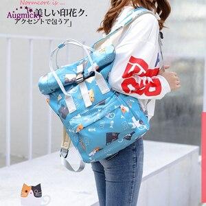 Image 2 - 2019 fashion Large Capacity Backpack Women Preppy School Bags For Teenagers women Nylon Travel Bags Girls LaptopBackpack Mochila