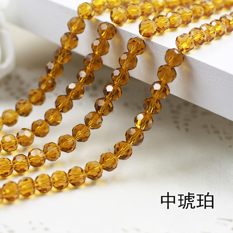 Wholesale~Amber Color 5000# Crystal Glass Beads Loose Round Stones Spacer for Jewelry Garment.4mm 6mm 8mm 10mm m4 male m 25 30 35 40 45 50 55 60 mm x m4 6mm female brass standoff spacer copper hexagonal stud spacer hollow pillars
