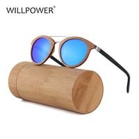 WILLPOWER New Luxury Sunglasses Wood Frame Acetate Temple Men Sun Glasses Women 2018