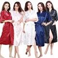 Señoras Satén Bata Bata Camisón Ropa de Dormir Kimono de la Ropa Interior de Seda Mujeres Vestido Tradicional Chino de La Vendimia Más El Tamaño S-XXXL
