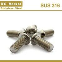 M3 Кнопка головкой, ISO7380 316 из нержавеющей стали с шестигранной головкой Крепеж, 4 мм-50 мм