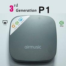 Wifi inalámbrico reproductor de audio/apoyo ios y android airmusic/dlna airplay qplay 2.0 música de streaming de radio receptor