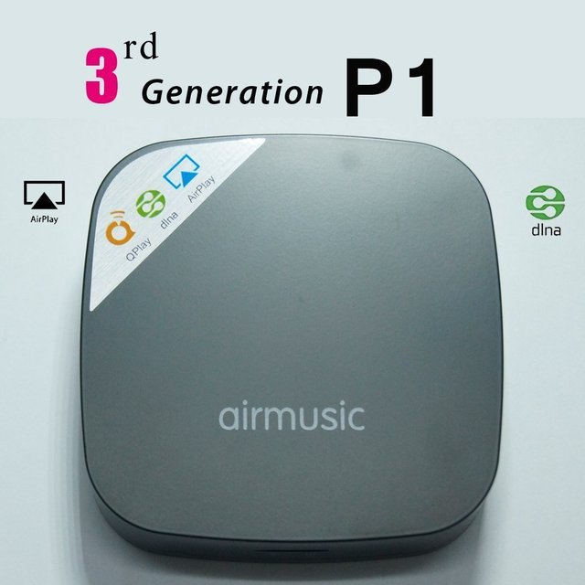 Wifi inalámbrico reproductor de audio/apoyo ios y android airmusic/dlna airplay qplay 2.0 música de streaming de radio receptor