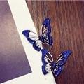 2017 New Korean Elegant Crystal Butterfly Stud Earrings Fashion Temperament Earring for Women Friendship Jewelry Brincos