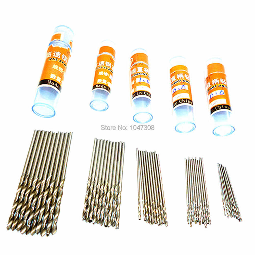10pcs 0.6mm/0.8mm/1mm/1.5mm/2mm High Speed Steel Twist Drill Bits Hss Micro Drills Bit for PCB Thin Aluminum Iron Sheet Plastic