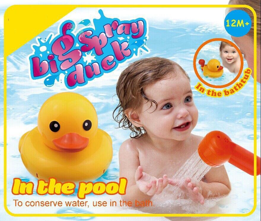 Big Spray Duck Bath Toy Bathroom Shower Bathing Baby Toy Spray water Fun In the Pool For Kids
