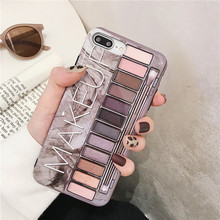 NJIEER Makeup Box Case For iPhone 7 8 6 S 6S Plus Soft TPU Cover silicon Phone Cases X XR XS Max Girl Coque Capa