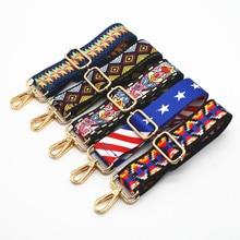Nylon Colored Bags Straps Rainbow Belt Accessories Adjustable Women Shoulder Handbag Decoration Handle Ornament KZ151357