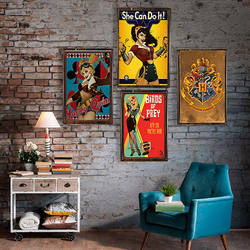 Харли Квинн металлический знак настенные Декорации для бара жестяная вывеска винтажный металлический постер домашний Декор Живопись