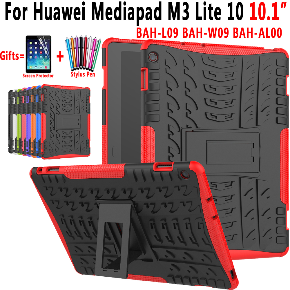 Case For Huawei Mediapad M3 Lite 10 10.1 Inch BAH-W09 BAH-AL00 BAH-L09 Cover 2 In 1 Hybrid Rugged Durable Silicon Coque Funda