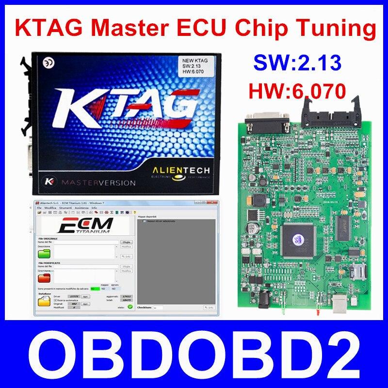 Newest KTAG V2 13 K TAG Firmware V6 070 ECU Programming font b Tool b font