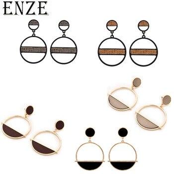 ENZE2019 nuevas joyas de mujer de metal Tejido estilo europeo y americano pendientes vintage accesorios de fiesta