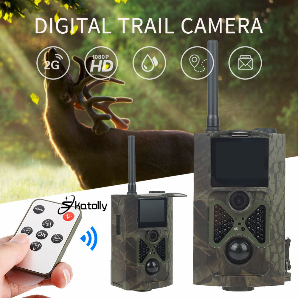 Skatolly HC300M Night Vision Infrared Hunting Camera GSM 12MP 1080P Scout Chasse Camera Photo Traps Wildlife Trail Cameras Hunt