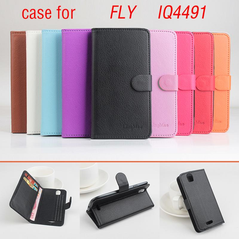 Phone case for FLY IQ4491 About Flip Cover Mobile Phone Bags. Brand Hot Sale Factory price.