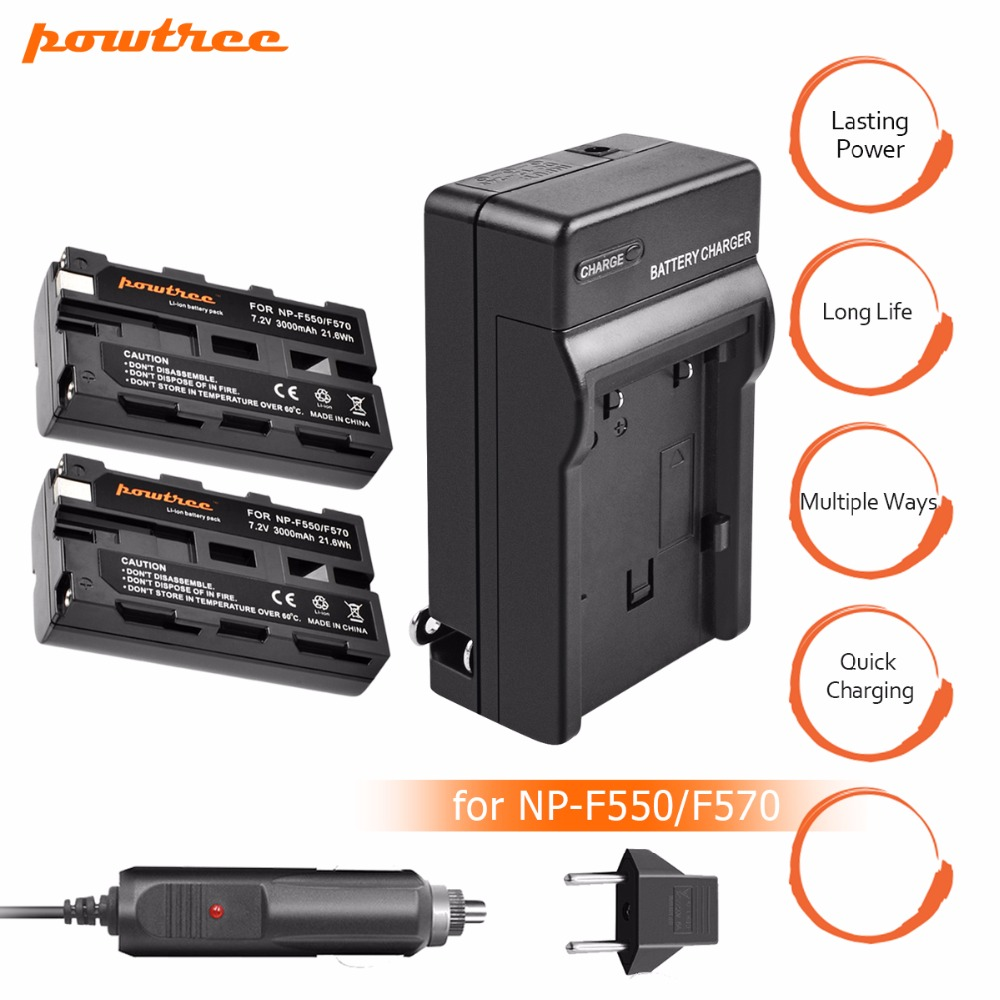 2x NP-F570 NP-F550 NP F550 F330 Bateria+NP-F530 Battery charger for Sony F530 CCD-SC55 CCD-TRV81 Camera L10