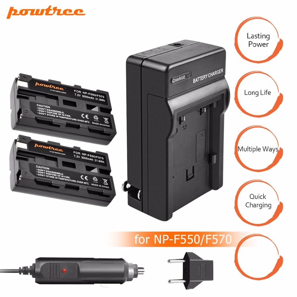 2x NP-F570 NP-F550 NP F550 F330 Bateria + NP-F530 Batterie chargeur pour Sony NP-F570 F530 CCD-SC55 CCD-TRV81 Caméra Batterie L10