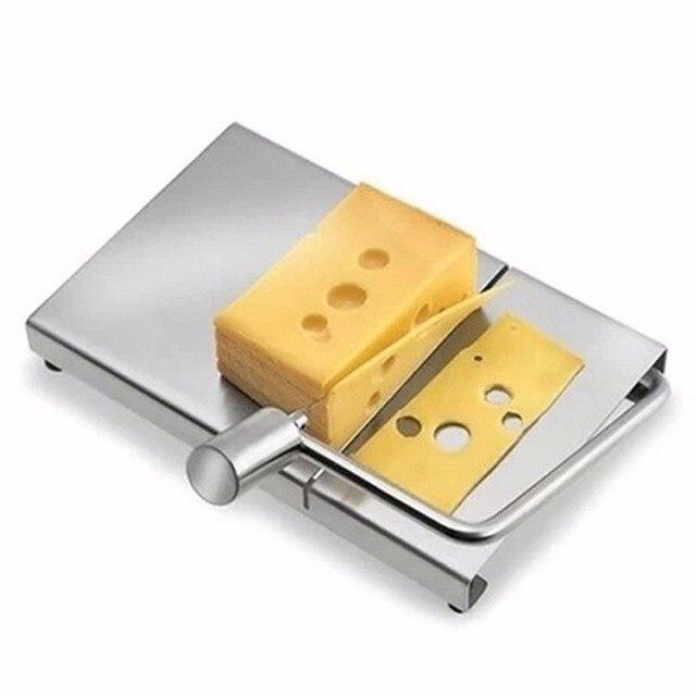 Aço inoxidável Fatiador de Queijo Ecológico Placa Placa De Corte Cortador de Manteiga Manteiga Faca de Cozinha Utensílios de Cozinha