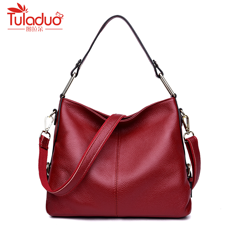 High Quality Genuine Leather Women Handbag Casual Large Capacity Shoulder Bag Hot Sale Solid Women Bag 2018 New Tote Bags 2017 esufeir brand genuine leather women handbag fashion shoulder bag solid cowhide composite bag large capacity casual tote bag