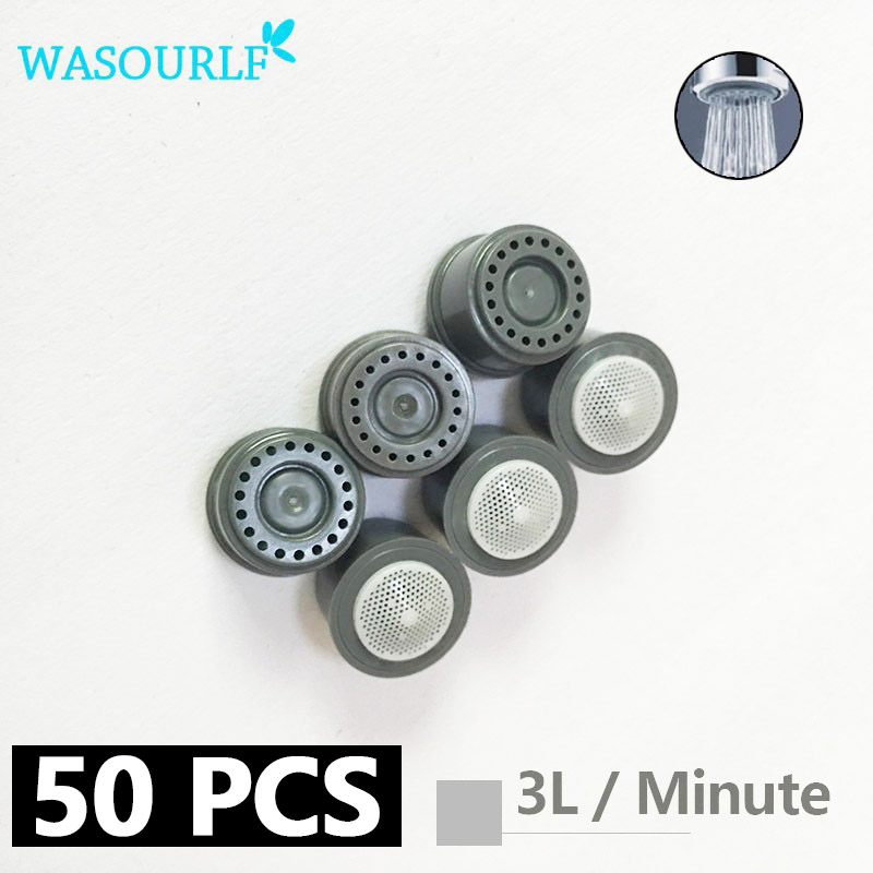 50 Pieces 2L 3L 4L 6L 8L Water Saving Faucet Aerator 24mm Male Thread Aerator Female Thread Tap Device Bubbler Faucet Sprayer