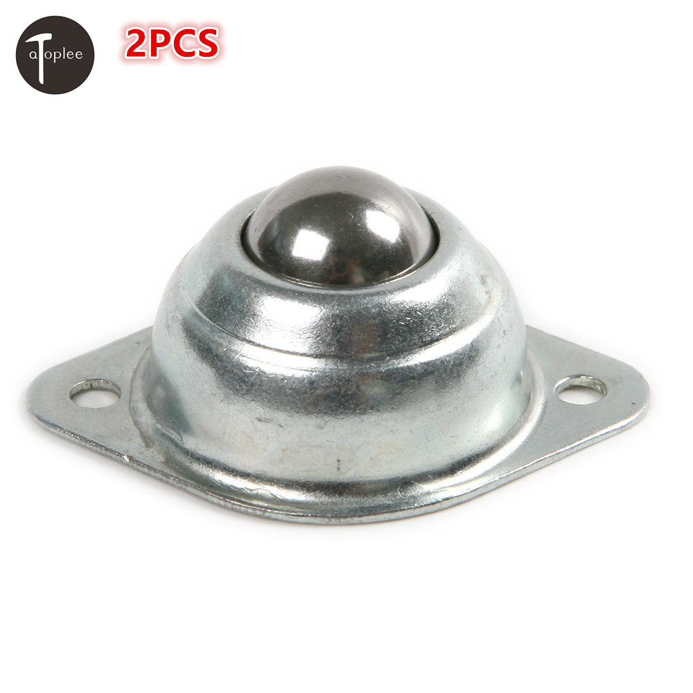 Atoplee 2 PCS Roller Blade Ball Bearings Wheels Silver Stainless Steel Mini Ball Caster Roller Ball Bearing
