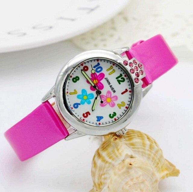 2018 fashion diamond little girls beauty Flowers dial quartz watch high quality