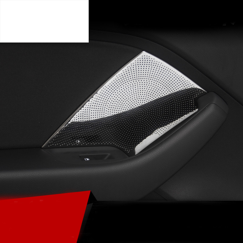 car styling Stainless steel car audio speaker sound cover decorating interior trim moldings for car Audi A3 sedan 2014 2017 Year in Car Stickers from Automobiles Motorcycles