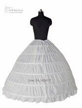 כדור שמלה 6 חישוק תחתוניות תחתוניות קרינולינה מלאה עבור אביזרי שמלת החתונה של כלה משלוח חינם