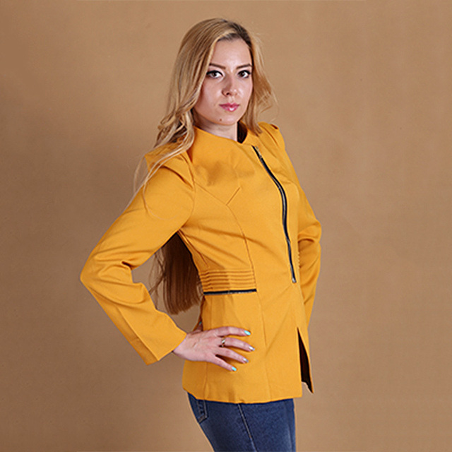 New Fashion Spring Women Slim Blazer feminino Coat Casual Jacket Sleeve Zipper Regular Small Suit Ladies Blazers Work Wear X0010
