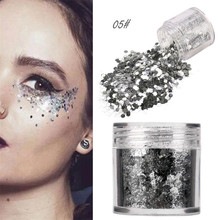 2018 New 1Box 5g Shimmer Loose Sequins Powder Face Body Glitter Paillette Nail Art Decor Makeup 12 Colors Nail Glitter Sequins