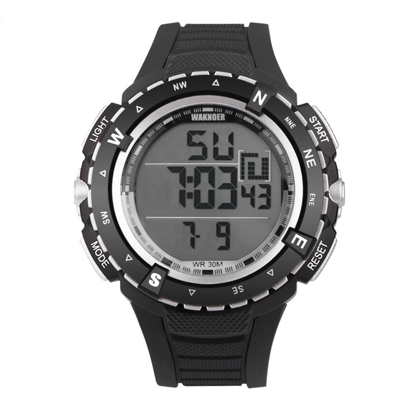 WAKNOER Multifunction Digital Watch Men Watch Waterproof Sport Watches LED Military Mens Watch Clock Saat Erkek Kol Saati RelojWAKNOER Multifunction Digital Watch Men Watch Waterproof Sport Watches LED Military Mens Watch Clock Saat Erkek Kol Saati Reloj