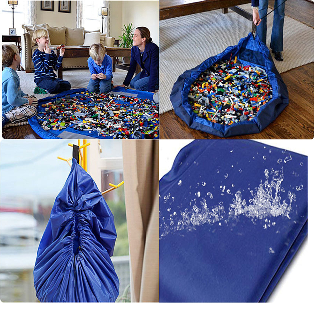 150 cm Portable Kids Toy Storage Bag and Play Mat Lego Toys Organizer Bin Box XL Fashion Practical Storage Bags-in Storage Bags from Home u0026 Garden on ... & 150 cm Portable Kids Toy Storage Bag and Play Mat Lego Toys ...